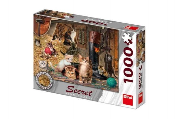 Puzzle Kočky 14 skrytých detailů 1000 dílků 66x47cm v krabici 32x23x7,5cm