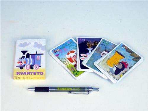 Kvarteto Mašinka společenská hra - karty v papírové krabičce