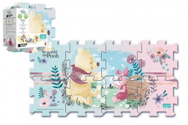Pěnové puzzle Medvídek Pú 32x32x1cm 8ks v sáčku 2+