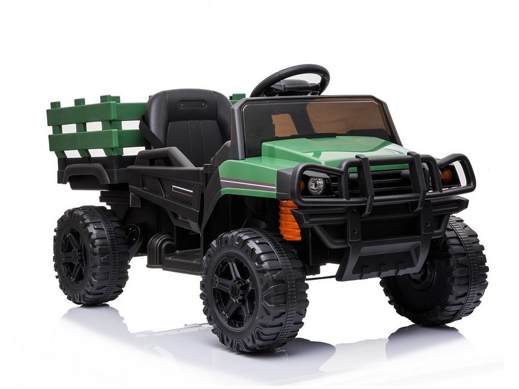 Dětské elektrické auto s nákladním prostorem, 12V, na dálkové ovládání, dva motory, MP3