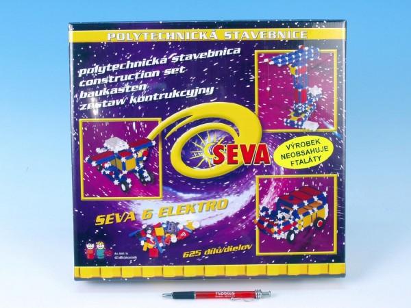 Fotografie Stavebnice Seva 6 Elektro plast 625ks v krabici 35x33x8cm