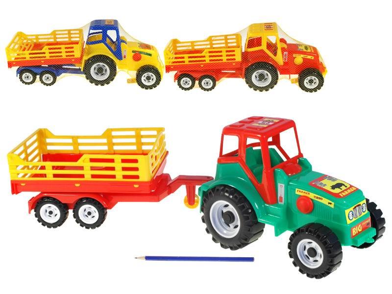 Traktor s vlekem Farmer 3barvy