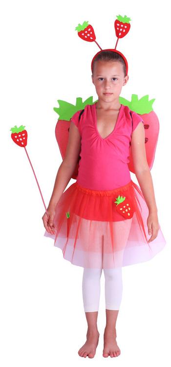 Fotografie Karnevalový kostým jahůdka s křídly