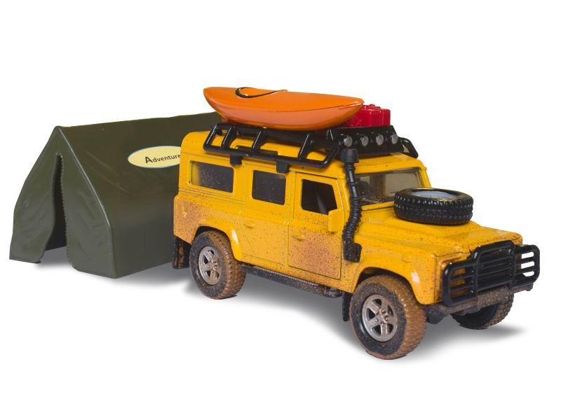 Land Rover Defender 14cm kov PB se stanem 9cm v krabicce