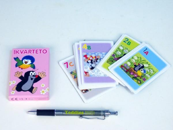 Kvarteto Krtek a sýkorka společenská hra - karty v papírové krabičce