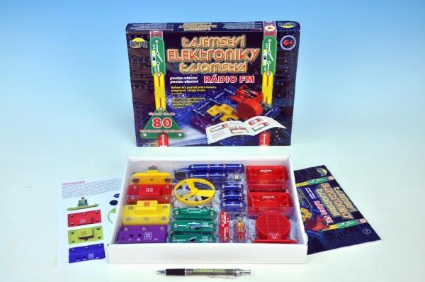Tajemství elektroniky - Rádio 80 experimentů na baterie v krabici 30x24,5x3,5cm