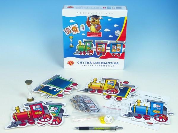 Fotografie Chytrá lokomotiva společenská hra v krabici 24,5x25,5x6cm