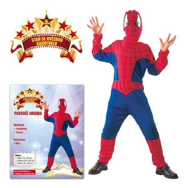 Kostým Pavoučí hrdina 130 - 140 cm