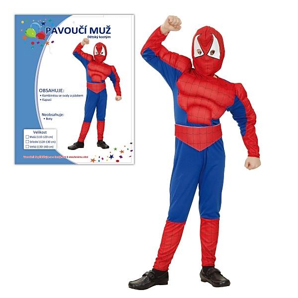 Kostým na karneval - Pavoučí muž, 120-130 cm
