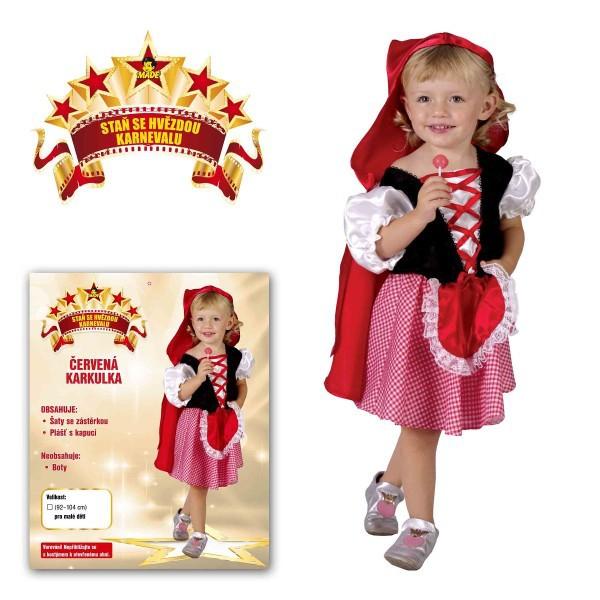 Dětský kostým Červená Karkulka 3-4 roky