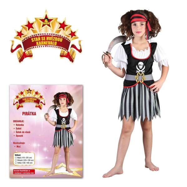 Šaty na karneval - Pirátka, 120-130 cm