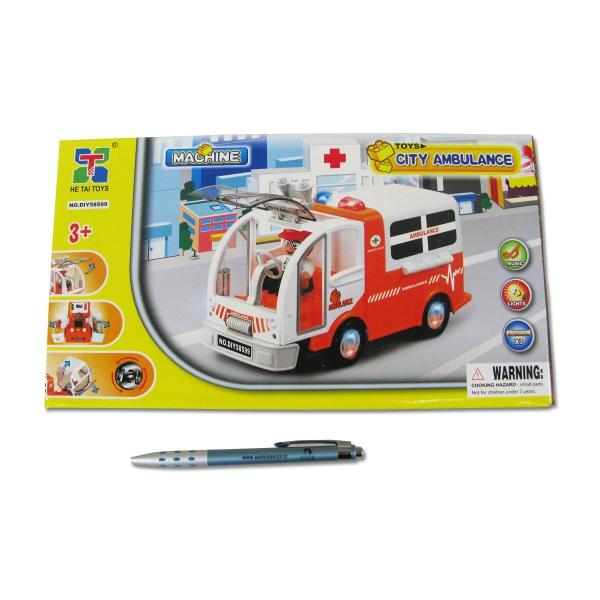 Autíčko ambulance na baterie