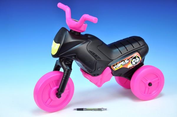 Odrážedlo Enduro Yupee černé/růžová kola malé plast výška sedadla 26cm nosnost d
