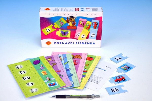 Fotografie Poznávej písmenka společenská hra v krabici 21x14x4cm
