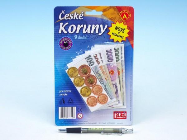 Fotografie České koruny peníze do hry na kartě