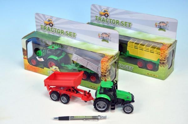Traktor s vlečkou se světlem a zvukem