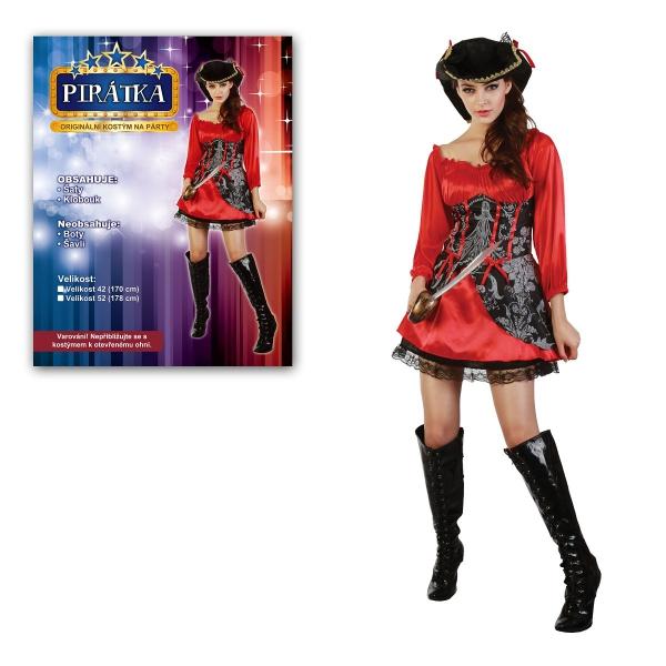 Šaty na karneval - Pirátka