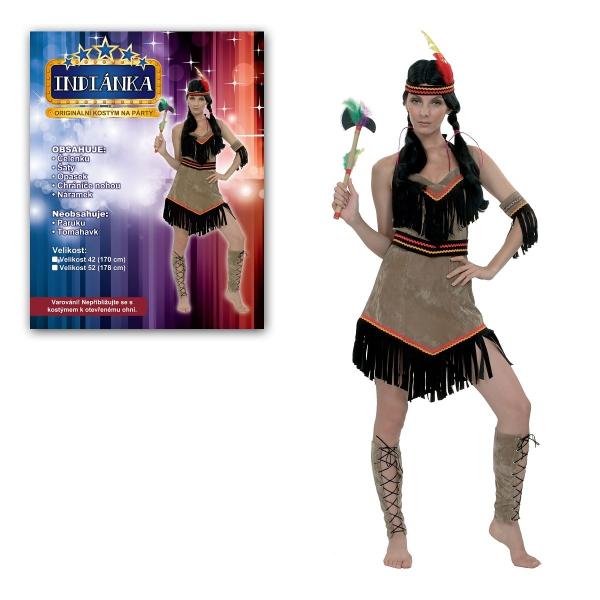 Šaty na karneval - Indiánka