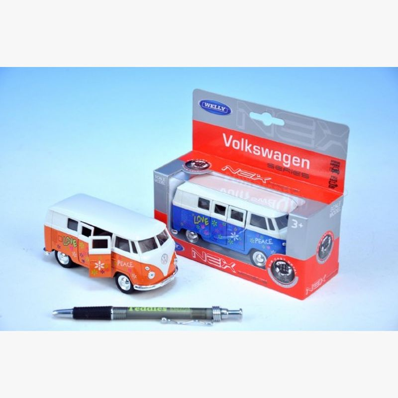 Autobus Welly VW 1962 hippies kov 11cm