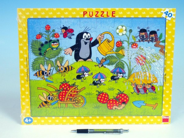 Fotografie Puzzle Krtek v jahodách