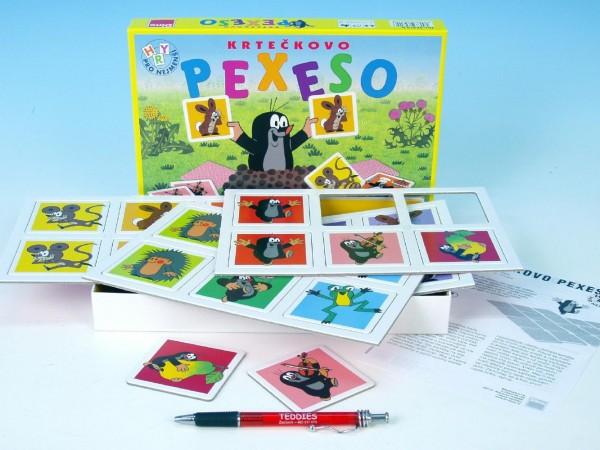 Fotografie Velké krtečkovo pexeso Krtek společenská hra v krabici 27x19x3,5cm