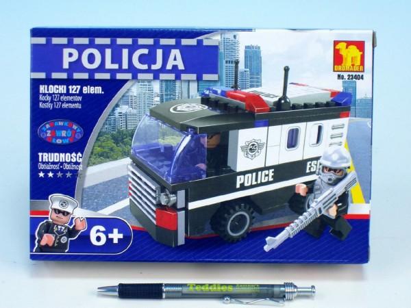 Stavebnice Dromader Policie Auto Dodávka 23404 127ks