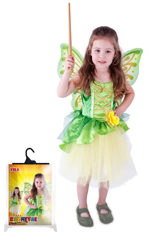 Kostým víla Zelenka s křídly, velikost S