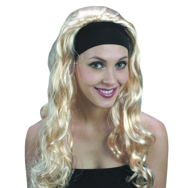 Paruka - Super blond dlouhá s čelenkou