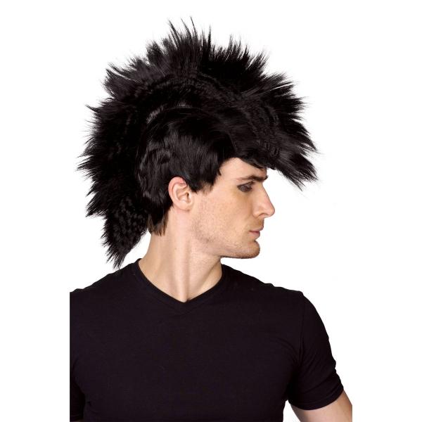 Paruka punk - černá