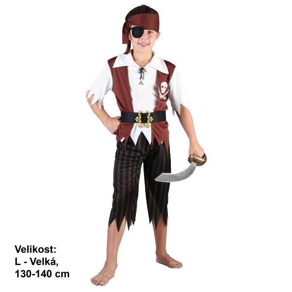 Šaty na karneval - Pirát, 130-140 cm