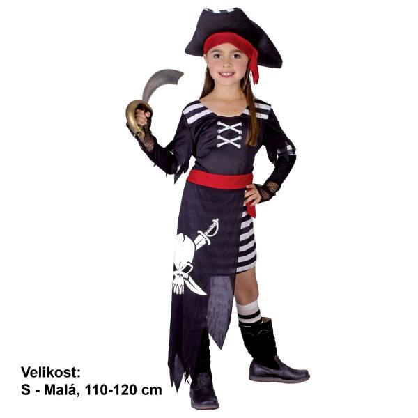 Šaty na karneval - Pirátka, 110-120 cm