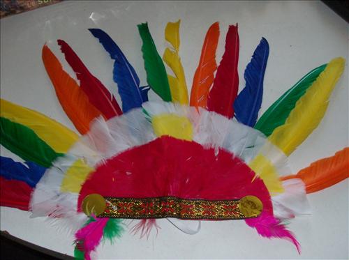 Fotografie Indiánská čelenka barevná