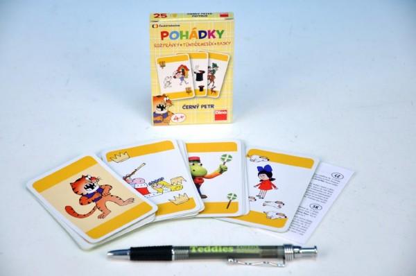 Fotografie Černý Petr Pohádky společenská hra - karty v papírové krabičce