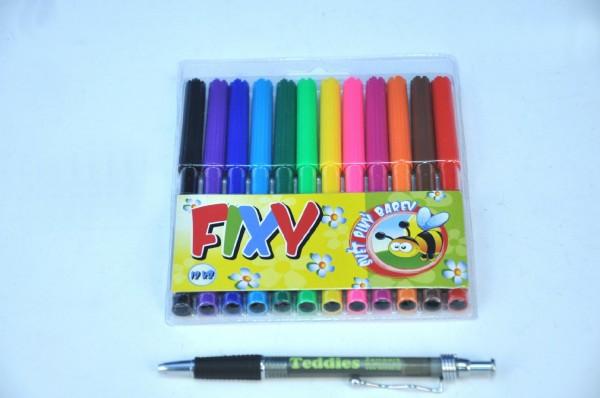 Fotografie Fixy 12ks v plastové krabičce