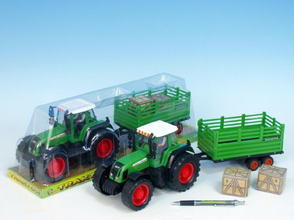 Traktor s vlečkou plast 43cm