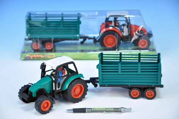 Traktor s vlečkou plast 33cm