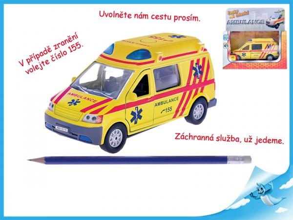 Auto ambulance kov česky mluvící se světlem