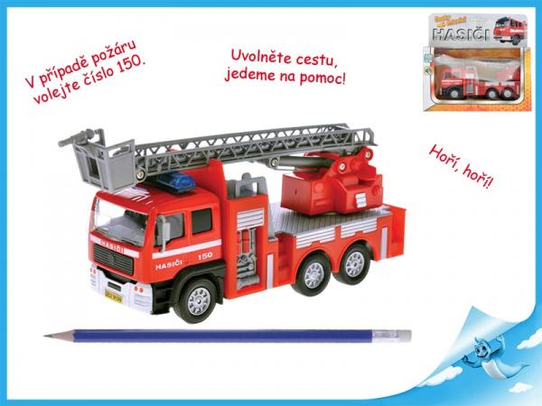 Auto hasiči kov česky mluvící se zvukem