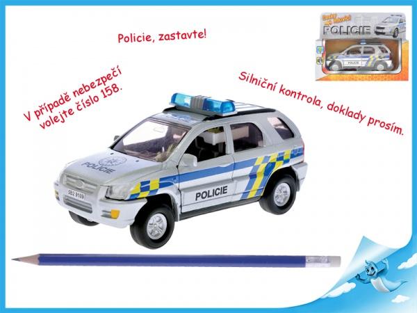 Auto policie kov česky mluvící se světlem