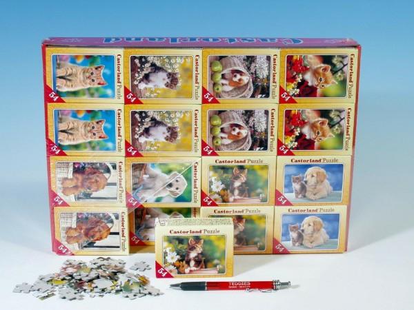 Fotografie Minipuzzle zvířátka 54 dílků