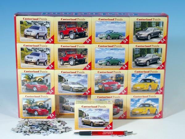 Minipuzzle auta 54 dílků