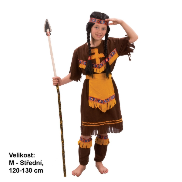 Šaty na karneval - Indiánka, 120 - 130 cm