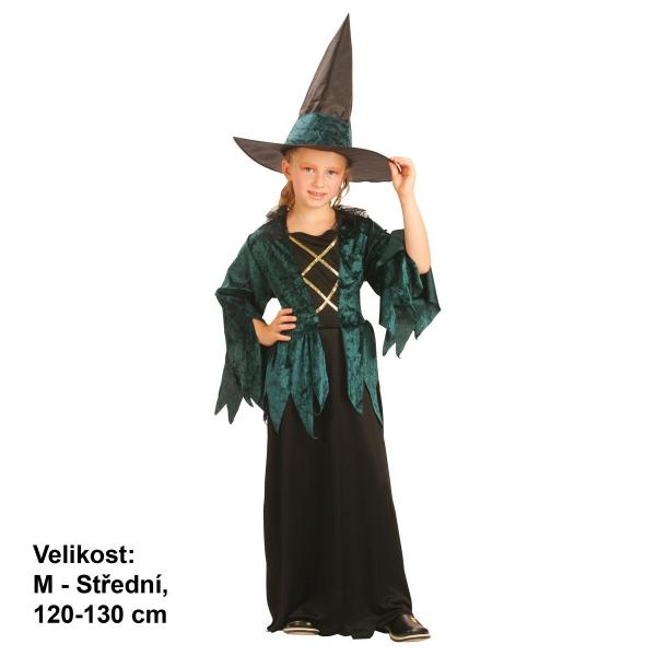 šaty na karneval - Čarodějnice, 120-130 cm