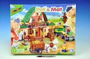 Stavebnice BanBao Eco Farm Pat a Mat velká farma 541 ks + 4 figurky plast v kra