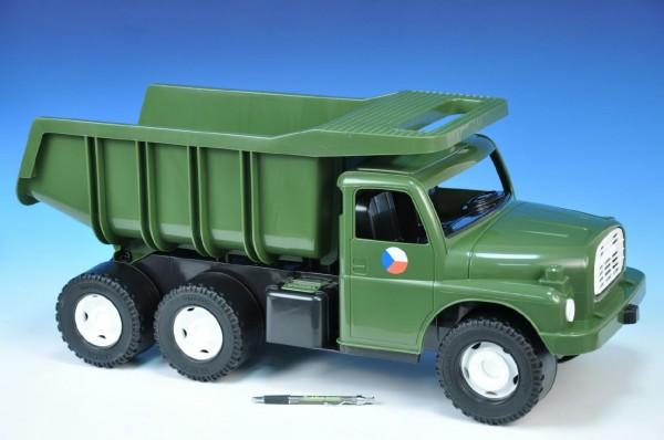 Auto Tatra 148 plast 73cm v krabici - khaki vojenská