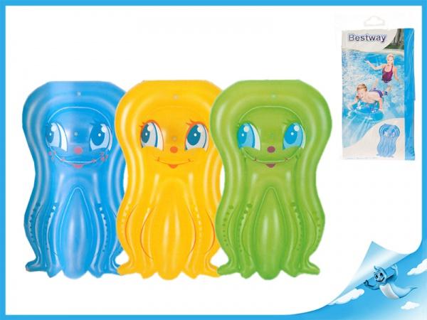 Lehátko chobotnice nafukovací 109x74cm 3-10let 3barvy v sáčku