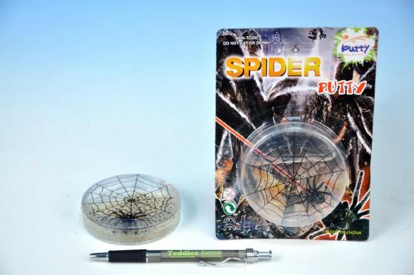 Sliz s pavoukem v krabičce 8x1,5cm na kartě