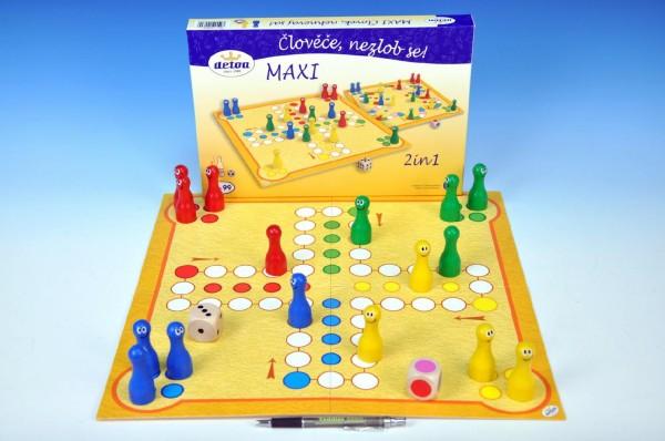 Fotografie Člověče, nezlob se maxi 2v1 společenská hra v krabici 33,5x23x3,5cm
