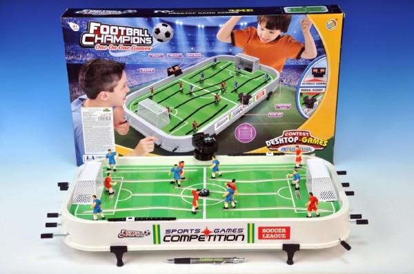 Kopaná/Fotbal společenská hra plast kovová táhla bez počítadla v krabici 60x36x
