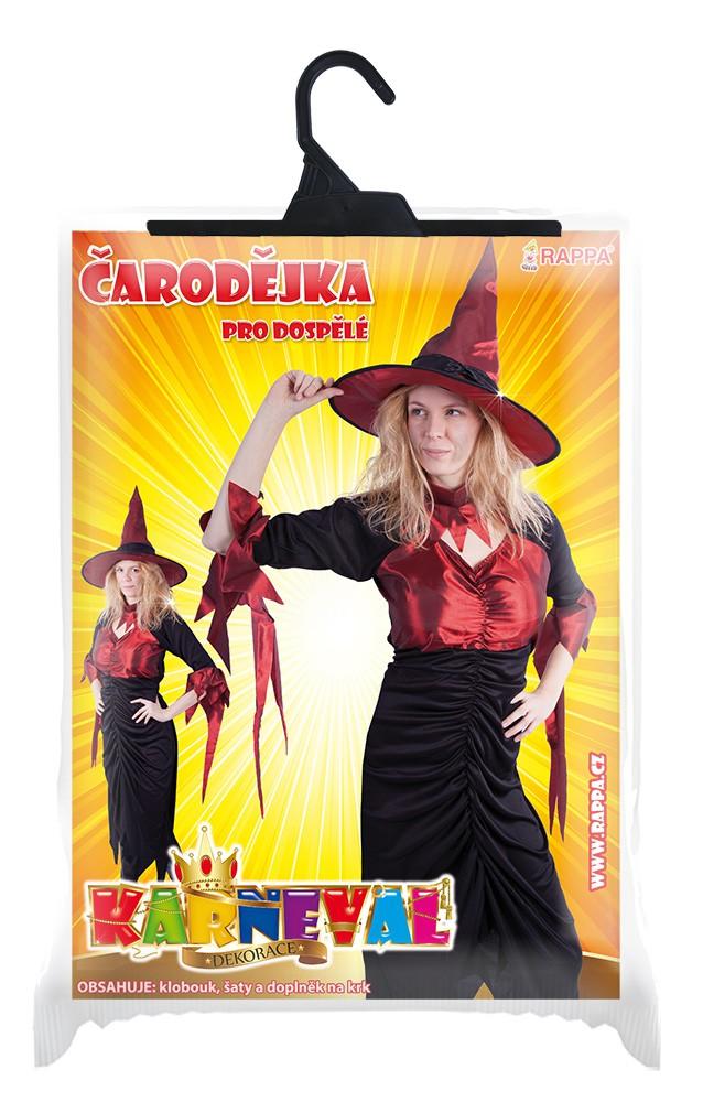kostým čarodějnice dospělá, vel. M